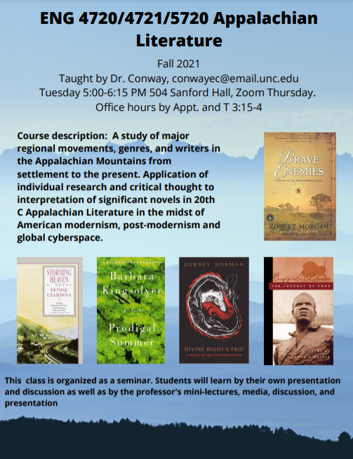 ENG 4720/4721/5720: Appalachian Literature