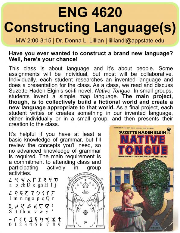 ENG 4620: Constructing Languages
