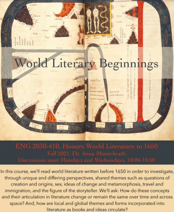 ENG 2030-410: Honors World Literature to 1650