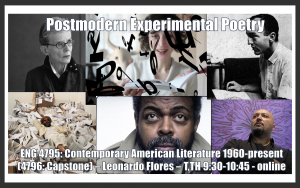 Flyer for ENG 4795: Contemporary American Literature 1960-present (4796: Capstone)
