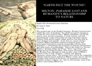 English 5835: Seventeenth-Century Literature