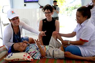 Sarah-Beth Hopton in Vietnam with Rebecca Walton